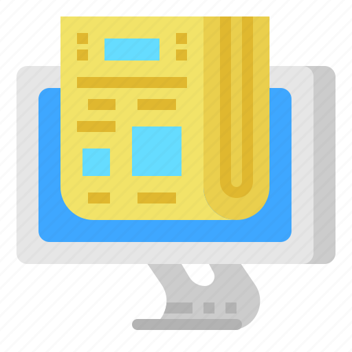letter, news, newsletter, newspaper icon