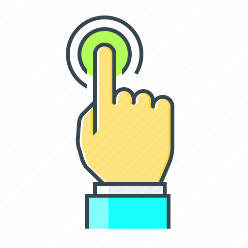 finger, hand, interaction, screen, touch, touchscreen icon