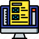 computer, development, device, web, wireframing icon