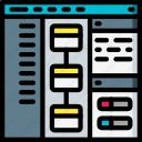computer, development, device, screen, web icon