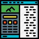 computer, development, device, split, view, web icon