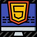 computer, development, device, five, html, web icon