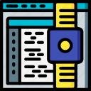 app, coding, computer, development, device, watch, web icon