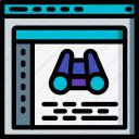 code, computer, development, device, history, web icon