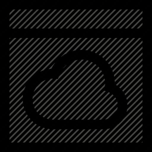 browser, cloud, code, computer, internet, programming, website icon