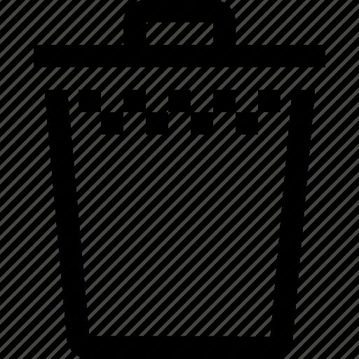 bin, empty, full, menu, options, settings, trash icon
