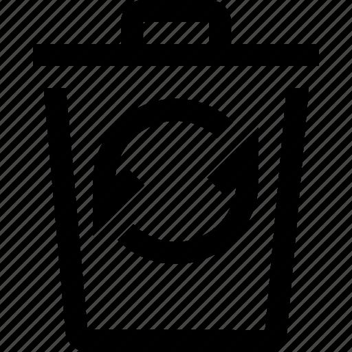 bin, menu, options, recycle, refresh, settings, trash icon