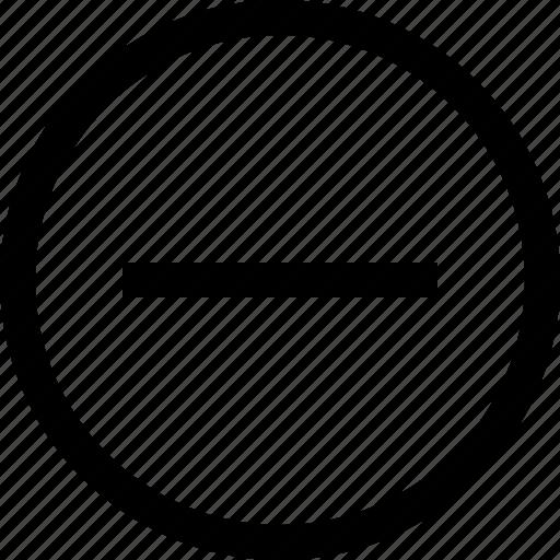 circule, code, menu, minus, options, programming, settings icon