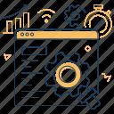development, optimization, seo, web page icon