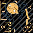 cogwheel, coding, head, think digital