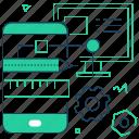 computer, mobile app, smartphone, web development icon
