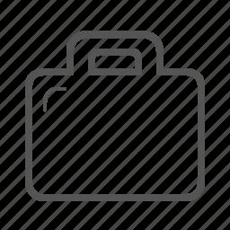 briefcase, case, curriculum, cv, portfolio icon