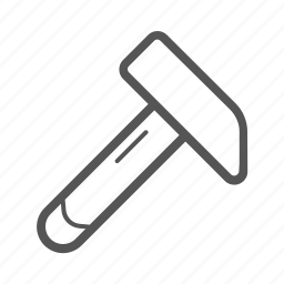 development, equipment, hammer, tool icon