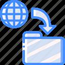 computer, development, device, folder, sync, web icon