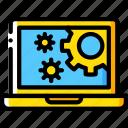 computer, development, device, settings, web icon