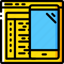 app, coding, computer, development, device, web icon