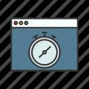 devoloper, time, timer, web icon icon
