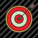 aim, arrow, dart, target