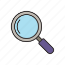 glass, magnifier tool icon, loop, magnifier icon