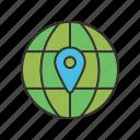 earth, globe, location, web icon icon