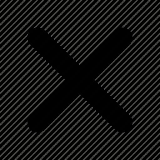 cross, delete, erase, exit, log out, remove, yumminky icon