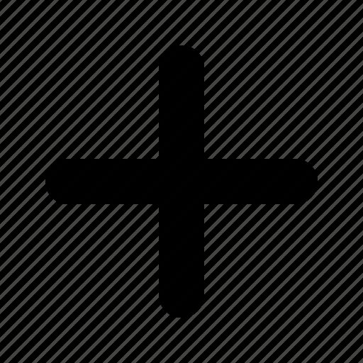 add, cross, hospital, more, plus, yumminky, zoom in icon