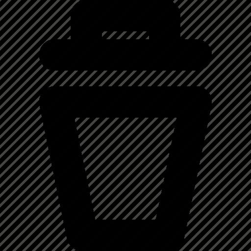 bin, delete, erase, remove, trash, trash can, yumminky icon