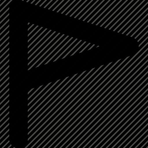flag, location, mark, marker, pin, sign, yumminky icon
