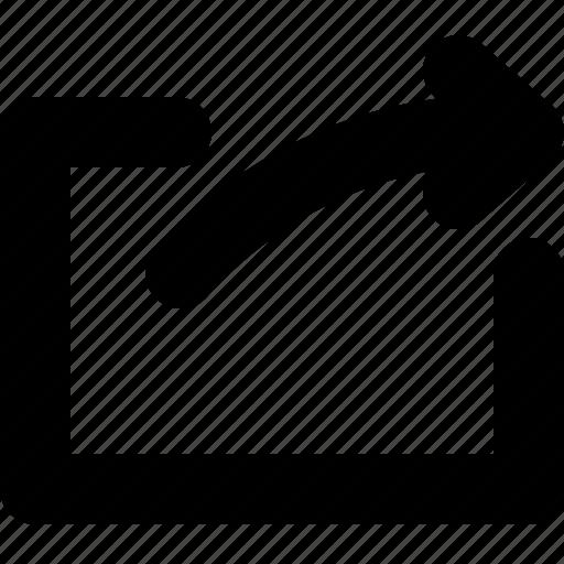 arrow, share, social, yumminky icon