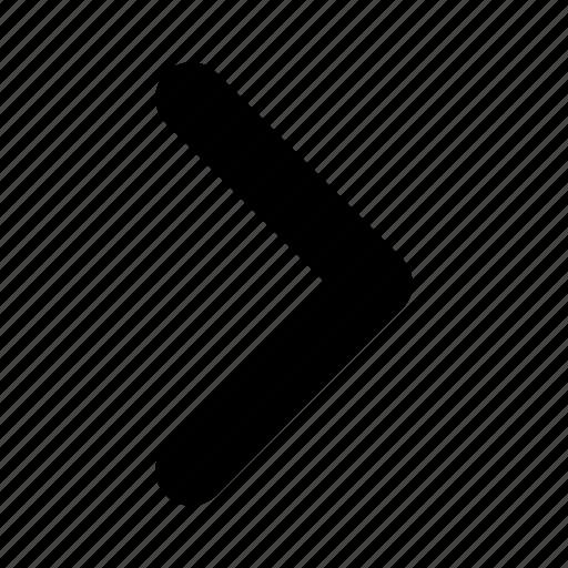 arrow, direction, next, right, yumminky icon