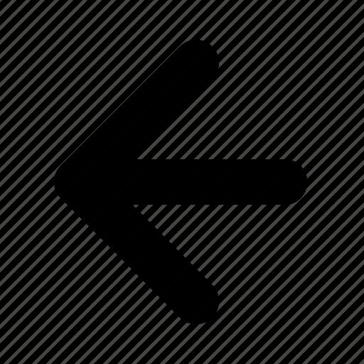arrow, direction, left, previous, yumminky icon