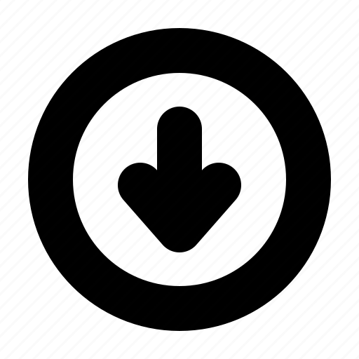 arrow, down, download, downloading, web, yumminky icon