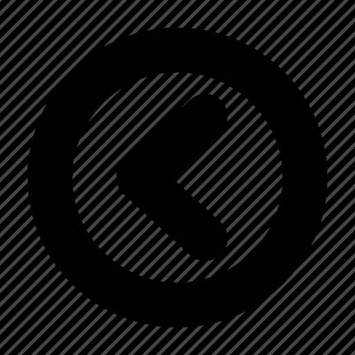 arrow, back, direction, left, previous, web, yumminky icon