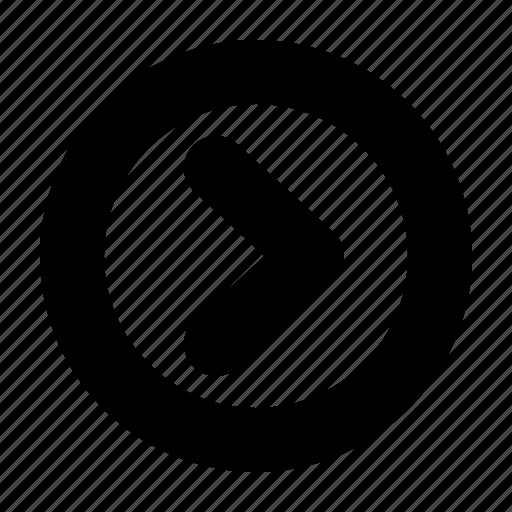 arrow, direction, next, play, right, web, yumminky icon