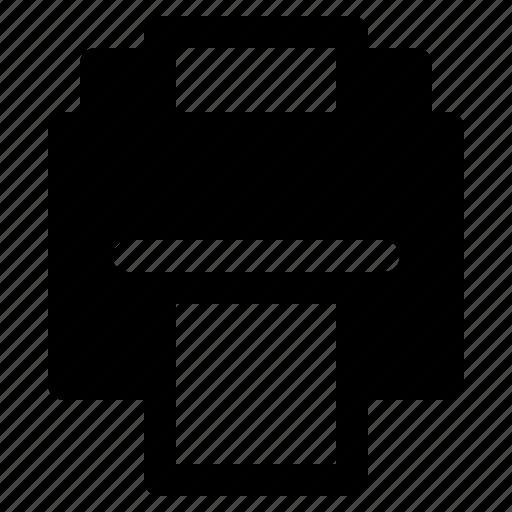 device, letter, paper, print, printer, yumminky icon