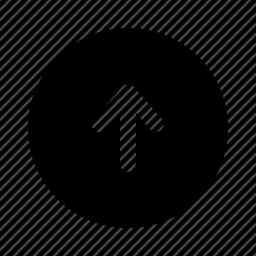 arrow, top, up, upload, uploading, yumminky icon