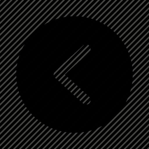 arrow, back, direction, left, previous, yumminky icon