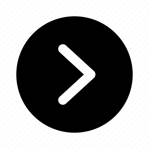 arrow, direction, forward, next, right, yumminky icon