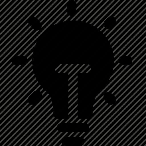 bulb, idea, light, note, tip, web, yumminky icon