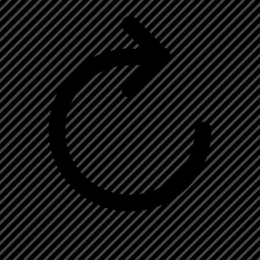 arrow, refresh, reload, repeat, web, yumminky icon
