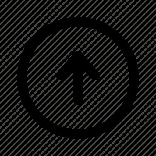 arrow, direction, top, up, upload, uploading, yumminky icon