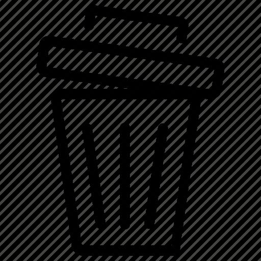 bin, can, delete, garbage, interface, multimedia, trash icon