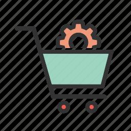 ecommerce, internet, marketing, online, settings, web, website icon