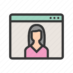 business, female, job, sign, user, visitor, web icon