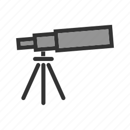 astronomy, long, optical, shadow, stars, telescope, web icon