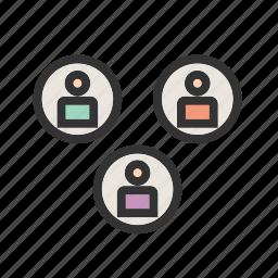 group, member, office, social, team, user, web icon