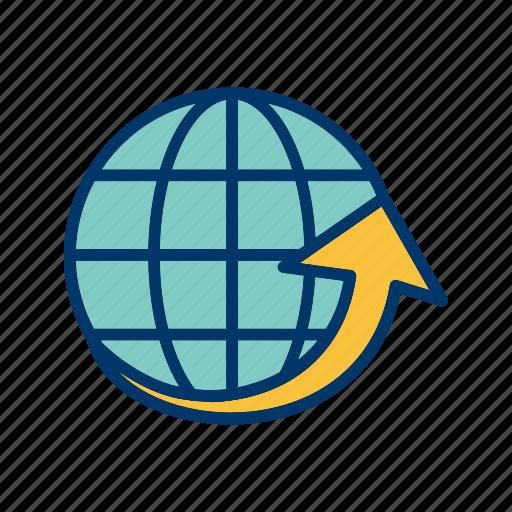 around the world, globe, world icon