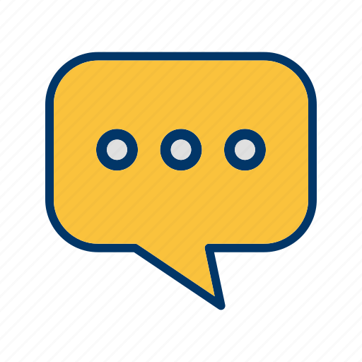 chat, conversation, typing icon