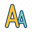 alphabet, font, letter, sheet, text icon