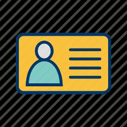 credit card, id, identity, identity card icon